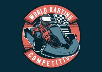 Go Kart t-shirt design