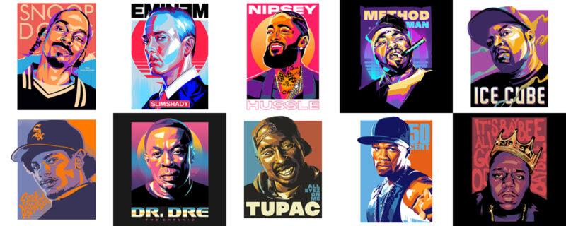 GREATEST POP ART DESIGNS – RAP ARTWORKS THEME