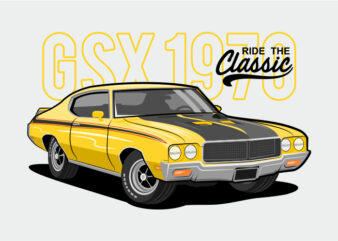 Ride The Classic Car – Yellow Muscle Car
