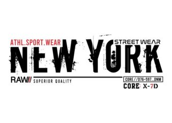 new york city urban t shirt design graphic, vector, illustration lettering typography