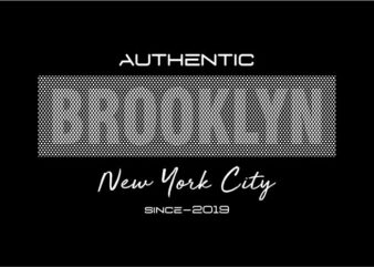 brooklyn new york city urban t shirt design graphic, vector, illustration lettering typography