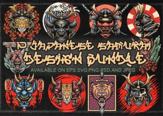 10 JAPANESE SAMURAI DESIGN BUNDLE