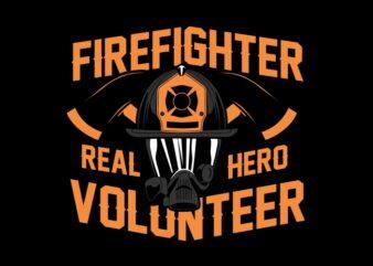 Firefighter real hero volunteer