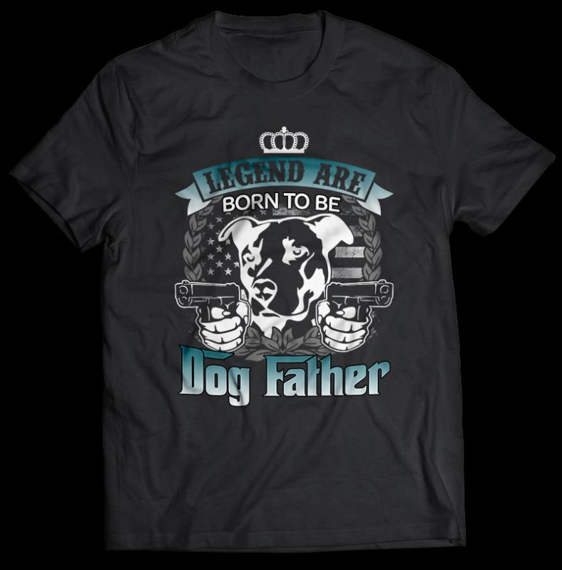 94 DOG tshirt designs bundles editable