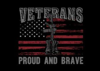 Veteran proud and brave