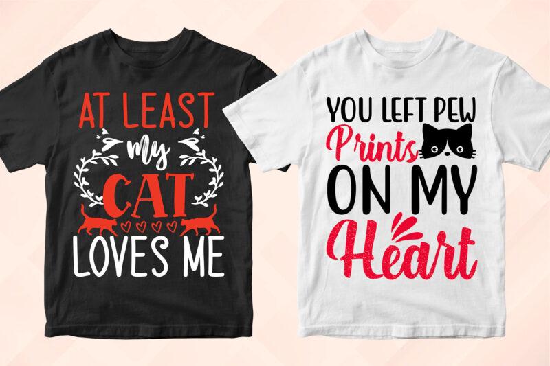 50 Cat T-shirt Designs Bundle, Cat Bundle For Pets Lover