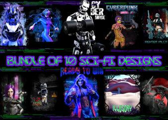 Bundle of 10 sci-fi designs