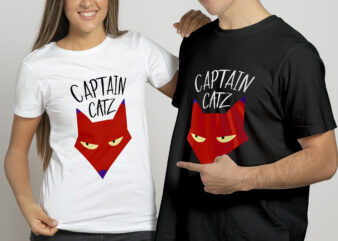 Captain Catz t shirt design for sale.
