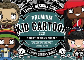 25 kid cartoon tshirt designs bundle #15