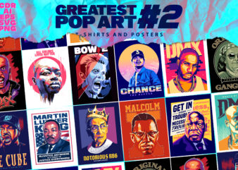 GREATEST POP ART DESIGNS #2- T-shirt and Poster