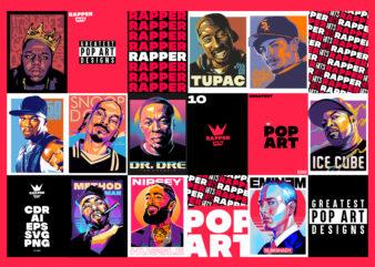 GREATEST POP ART DESIGNS BUNDLE – RAP ARTWORKS THEME