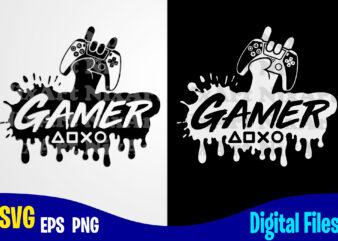Gamer, Playstation Gamepad, Funny Playstation Gamer design svg eps, png files for cutting machines and print t shirt designs for sale t-shirt design png