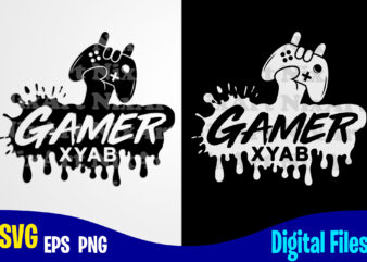 Gamer, Xbox Gamepad, Funny Xbox Gamer design svg eps, png files for cutting machines and print t shirt designs for sale t-shirt design png
