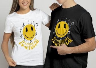 I'm little bit emotional t shirt design for sale.