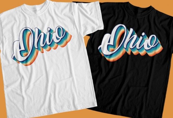 50 america states T-Shirt Design Bundle