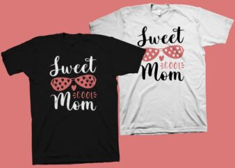 Sweet Cool Mom t shirt design, mommy shirt design, mom t shirt design, mom typography, mom life, mom svg shirt design, mom png shirt design, mother's day t shirt design for commercial use