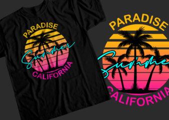 Summer paradise california T-Shirt Design