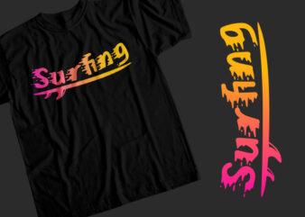 Surfing T-Shirt Design