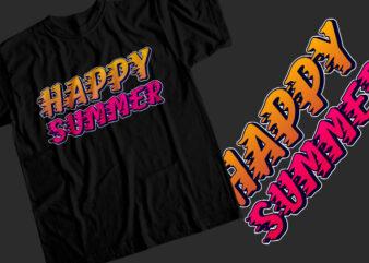 Happy summer T-Shirt Design