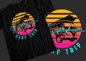 Summer surf trip T-Shirt Design