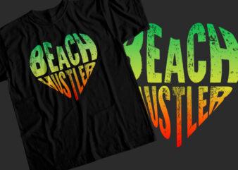 Beach hustler T-Shirt Design