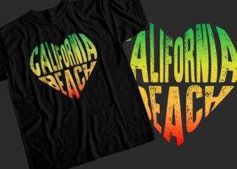 California beach T-Shirt Design