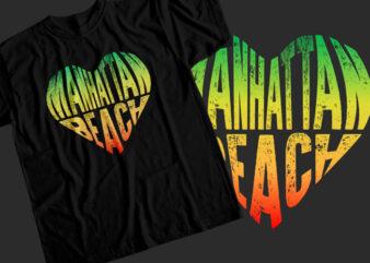 Manhattan beach T-Shirt Design