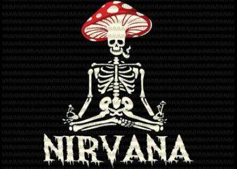 nirvana Svg, mushroom skeleton Svg, skeleton Svg, funny skeleton svg, png, dxf, eps files T shirt vector artwork