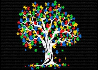 Tree Of Life Autism Awareness Month vector, Autism 2021 vector, Tree Of Life Autism vector png, Tree Autism png, vector