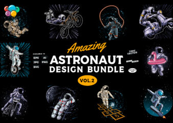 Amazing Astronaut design bundle vol.2