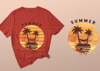 summer – california beach – tshirt design summer – california beach psd/summer – california beach png, summer, summer, summer