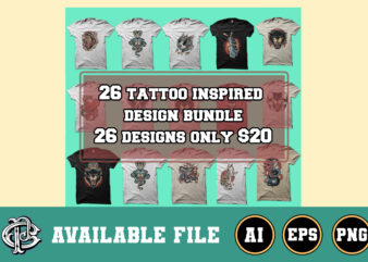 26 tattoo inspired design bundle only $20