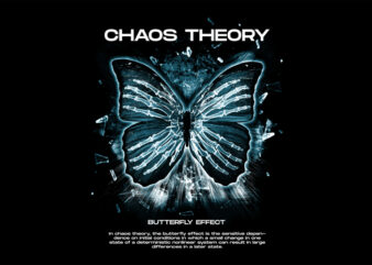 The Butterfly Effect Chaos Theory PSD Editable and PNG Transparent Design