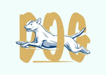 Dog animal t-shirt design