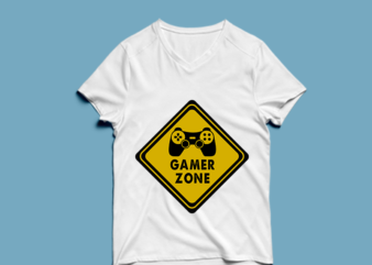 gamer zone – t shirt design