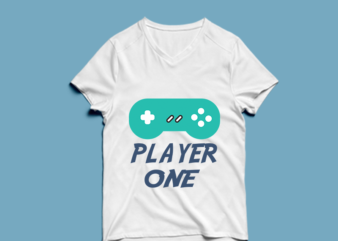 player one – t shirt design