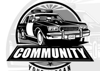 Car police t-shirt design for community