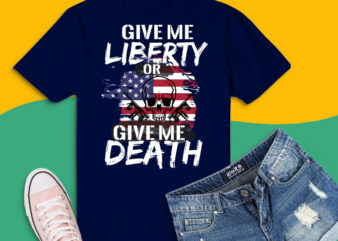 AR-15 png, Give Me Liberty or Give Me Death png, Guns AR-15 svg,cool patriotic American Flag svg,July 4th, American Flag, Give Me Liberty Or Give Me Death, Patrick Henry,