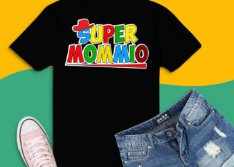 Super-Mommio Game Lovers png, Super-Mommio svg, Funny Mom, Mommy, Mother Video Game Lovers T-Shirt design,Christmas, Halloween, Birthday, St Patrick's Day,