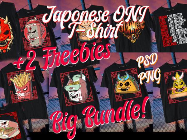 Japonese Oni / Japanese Warrior / Food / Burger / Fries / Japanese Mask / Ramen vector clipart