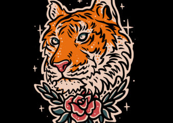 Tiger vector illustration for t-shirt design
