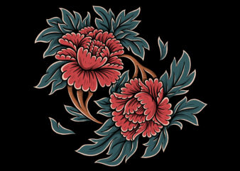 Twin roses tshirt design