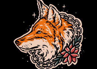 Wolf vector illustration for t-shirt design