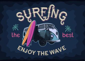Surfer tshirt designs
