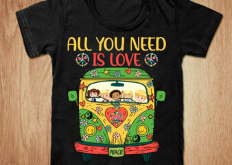 All you need is love peace t-shirt design, Love peace shirt, Hippie bus shirt, Hippie bus, Baby tshirt, Funny Hippie bus tshirt, Hippie bus sweatshirts & hoodies