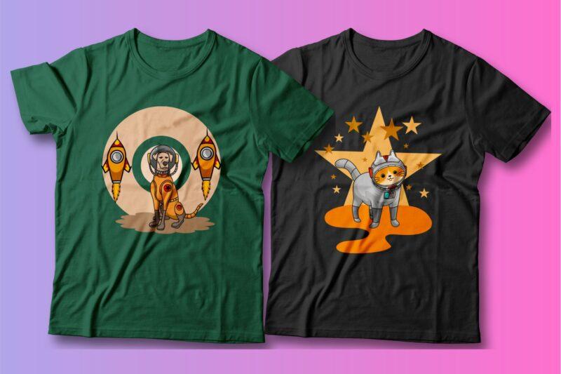280 Cartoon Mega Bundle, Cartoon character, Animals, Illustration, Vector t shirt design, Dog, Cat, Cute, Funny