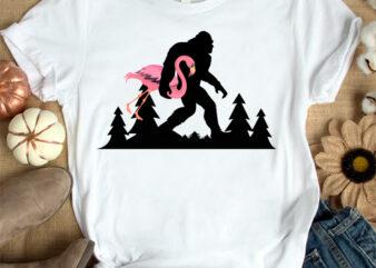 Bigfoot and Lawn Flamingo t-shirt design SVG, Bigfoot kill flamingo t shirt, Bigfoot Carrying Lawn Flamingo t shirt SVG, Funny Flamingo tshirt SVG, Funny Bigfoot and Flamingo tshirt, Lawn Flamingo sweatshirts & hoodies