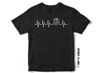 Bitcoin Heartbeat – Cryptocurrency t-shirt design