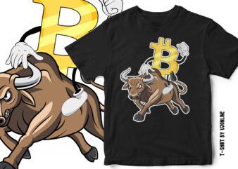 Bullish Bitcoin – Cryptocurrency T-Shirt Design