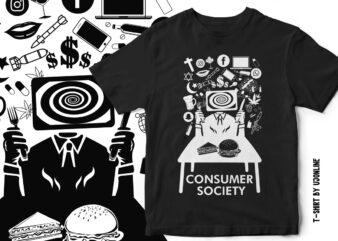 CONSUMER SOCIETY – T-Shirt Design.